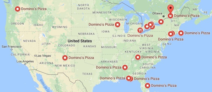 Dominos Pizza Locations