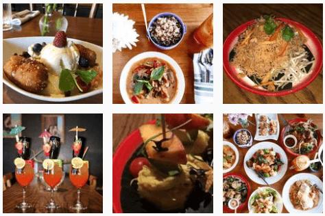 Asian food at Thep Phanom Thai