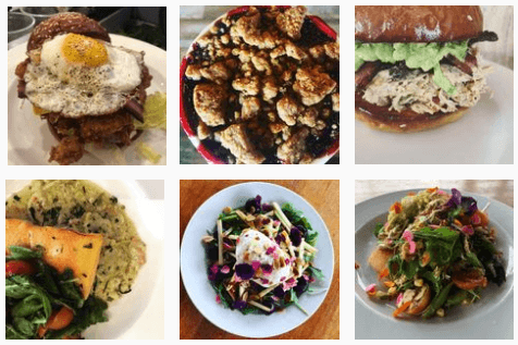 Cheeseburgers and salads at The Country Cat