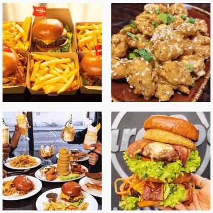 Hamburgers at Hard Rock Cafe Miami