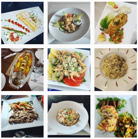 Italian pasta and seafood at Positano Restaurant