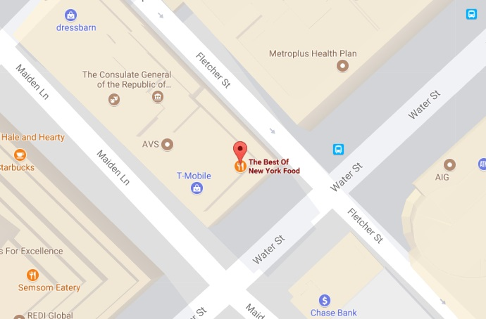 The Best of New York Food Restaurant Location