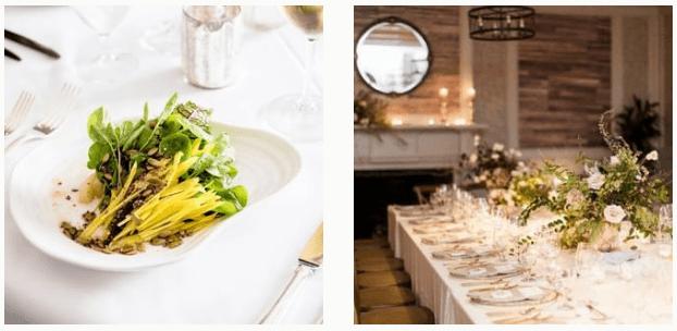 Wedding meal at Circa 1886 Restaurant