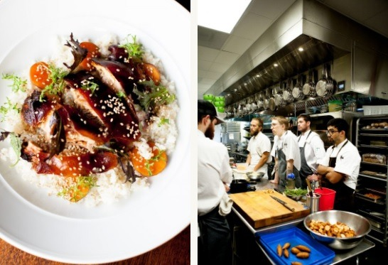 Food and chefs at Fig Restaurant