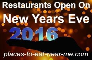 Restaurants near me open new years eve