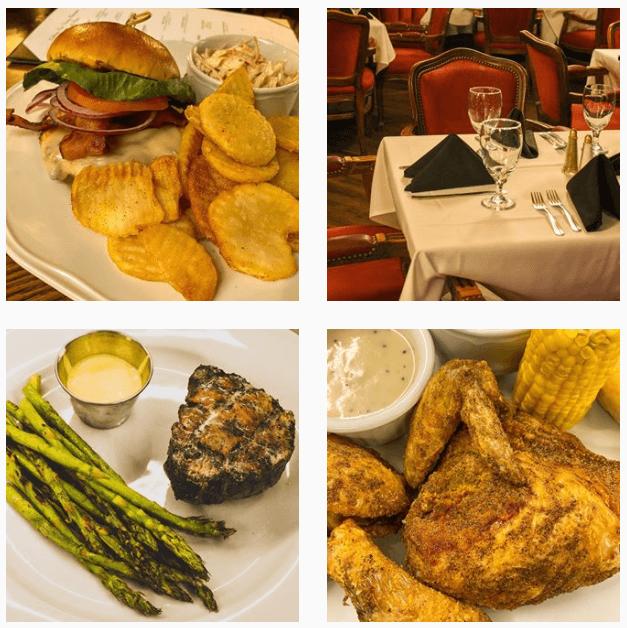 The food at Celebrity restaurant