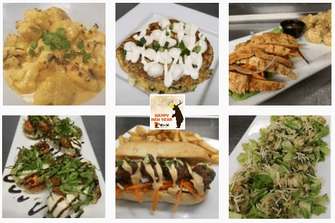 Chicken and salads at Wildwood Sports Bar and Grill