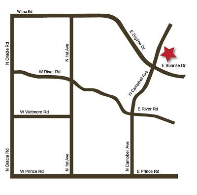 Directions to Vivace restaurant Tucson AZ