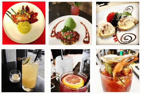 Desserts and cocktails at Fish Restaurant and Bar