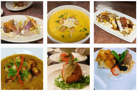 Soups and starters at Cotton Row Restaurant