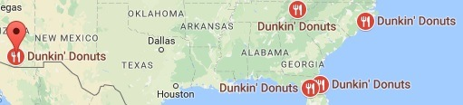 Dunkin' Donuts Locations