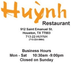Huynh restaurant opening hours