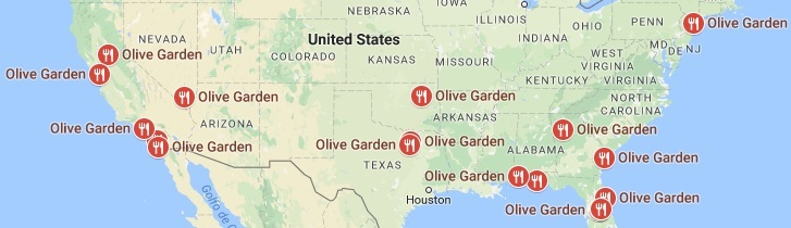 Take me to the nearest olive garden restaurant fasci garden for Take me to the nearest olive garden