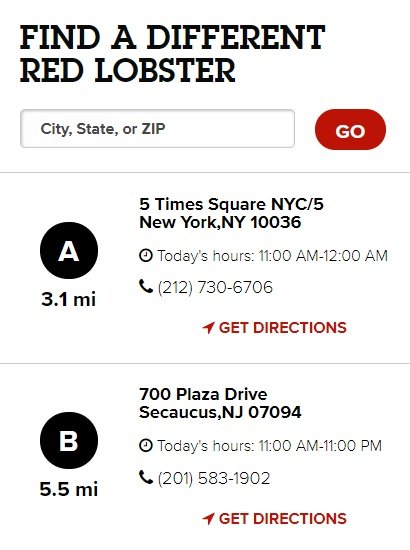 Find a Different Red Lobster Nearby