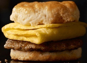 Sausage Biscuit with Egg