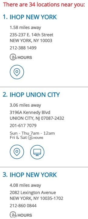 IHOP New York- There are 34 locations near you