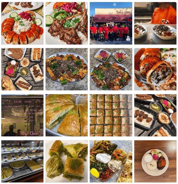 Turkish food at Istanbul Grill