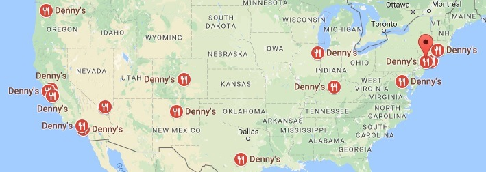 Dennys Locations