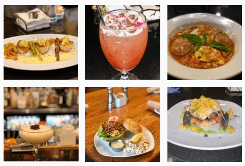 Food and desserts at Harvest on Main Restaurant