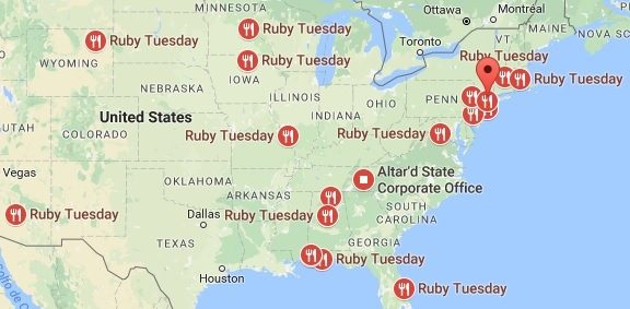 Ruby Tuesday Locations