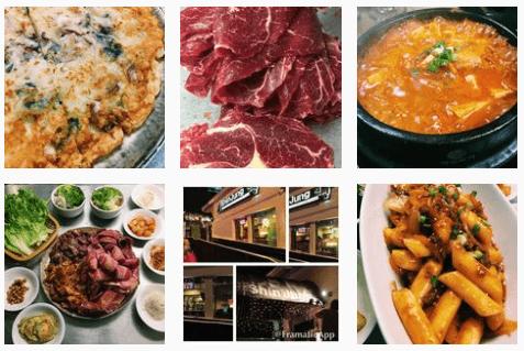 Soups and chips at Shinjung Korean Restaurant