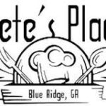 Pete's Place Family Restaurant Blue Ridge