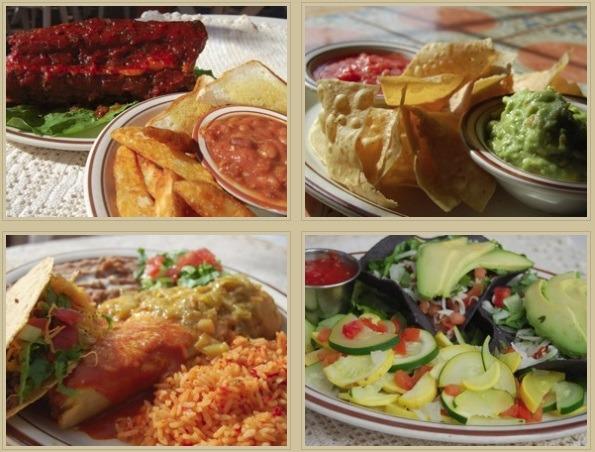 Monroe's nachos and salad