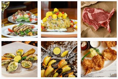 Seafood at Fishbones Restaurant