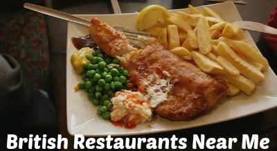Places to eat British food near me