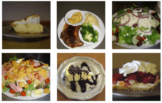 Salads and desserts at Pete's Place