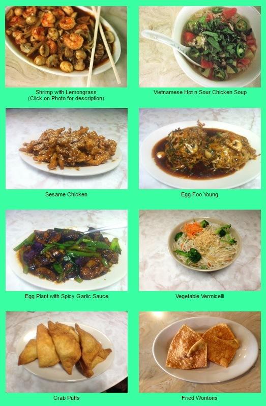Hao Hao Restaurant Menu