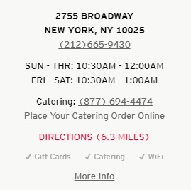 KFC Broadway Restaurant Information