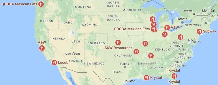 Closest Fast Food Restaurants In The Area