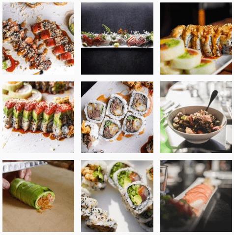 Japanese sushi at Umai Umai Restaurant