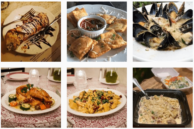 Italian seafood at Mama Carolla's restaurant