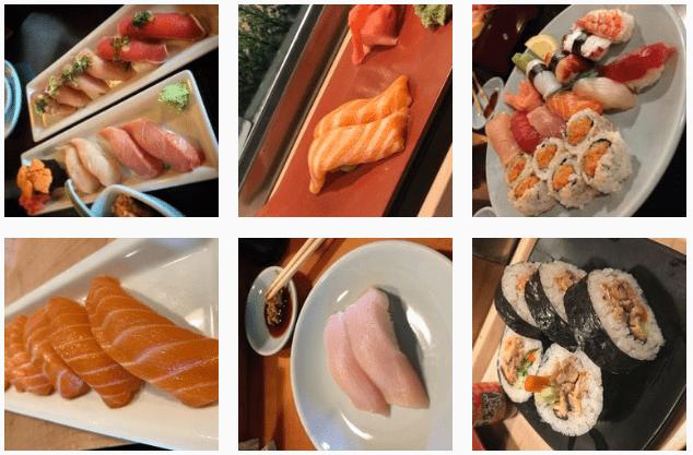 Japanese food at Sakura Restaurant