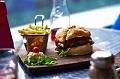 Fast-food restaurants - hamburger image