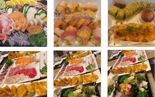 Seafood at Sushiya Restaurant