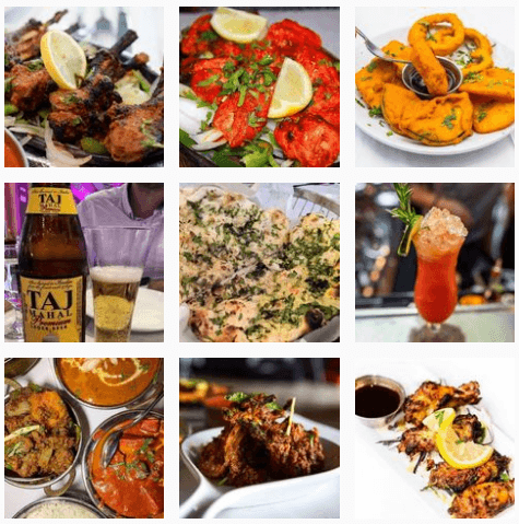 Indian food at Bombay Darbar Restaurant
