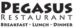 Pegasus Restaurant breakfast lunch dinner logo