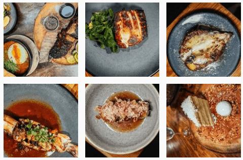 Asian food at KYU Restaurant