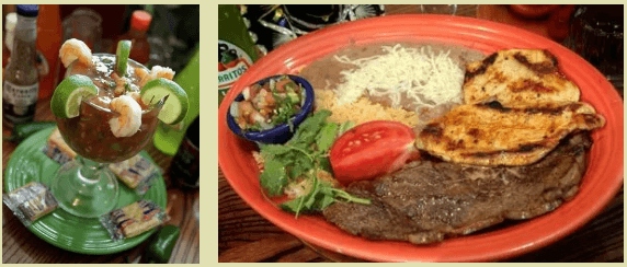 Mexican food at El Cazador