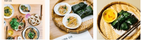 Vietnamese food at Van Da restaurant